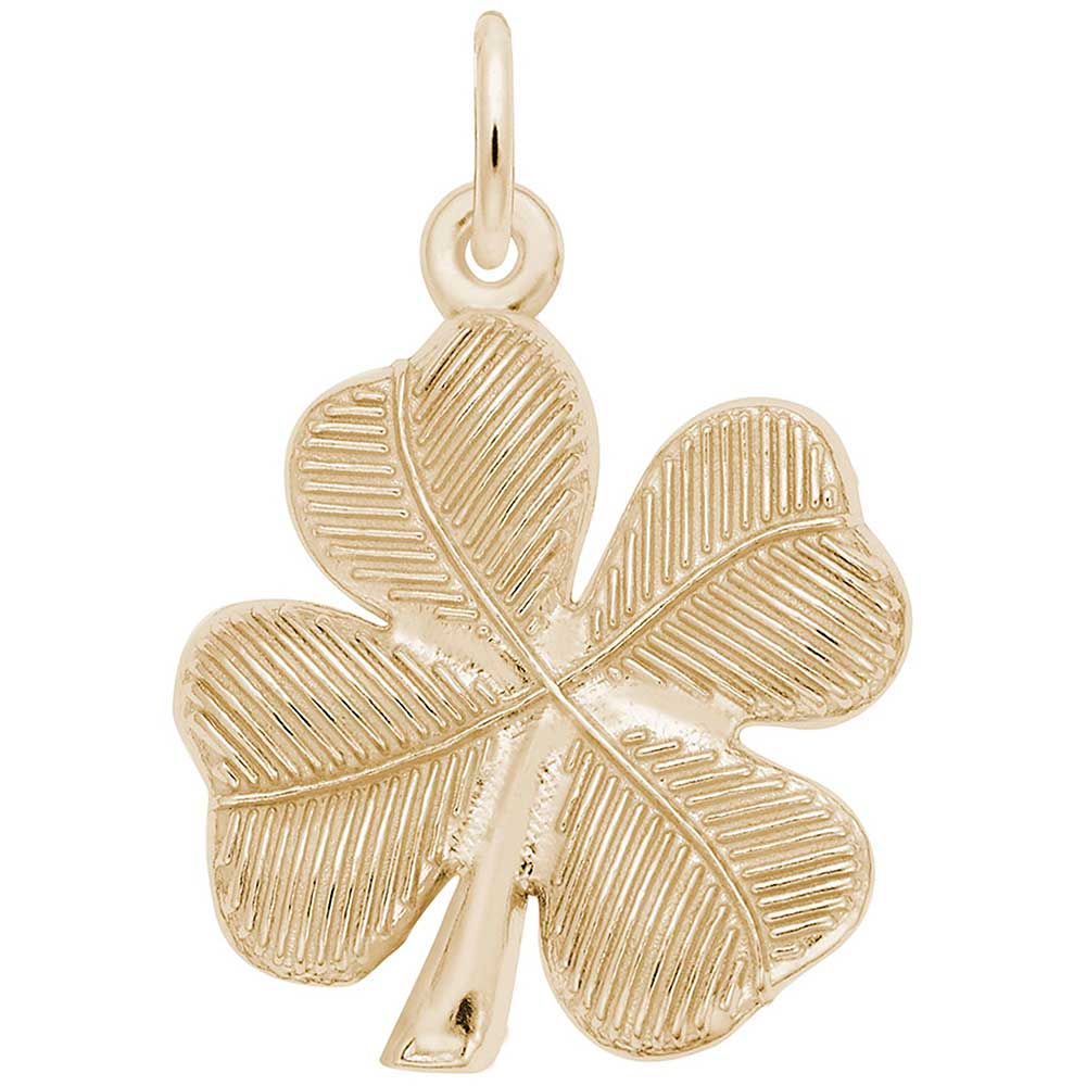 4 Leaf Clover Charm In 14K Yellow Gold