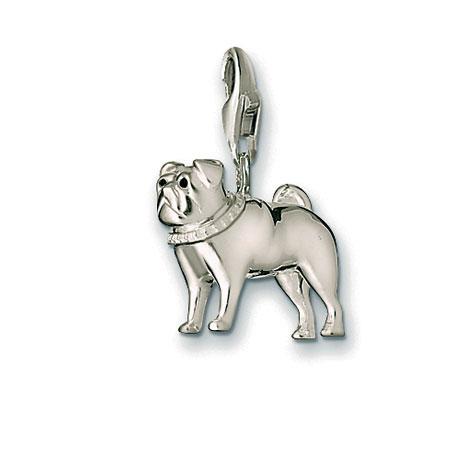 Thomas Sabo Pug Charm Sterling Silver Precious Accents Ltd