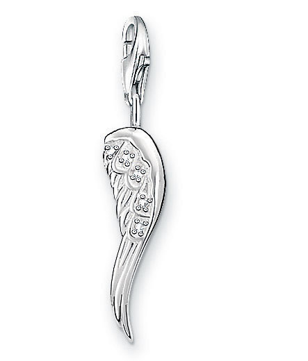 thomas sabo angel wing charm sterling silver precious. Black Bedroom Furniture Sets. Home Design Ideas