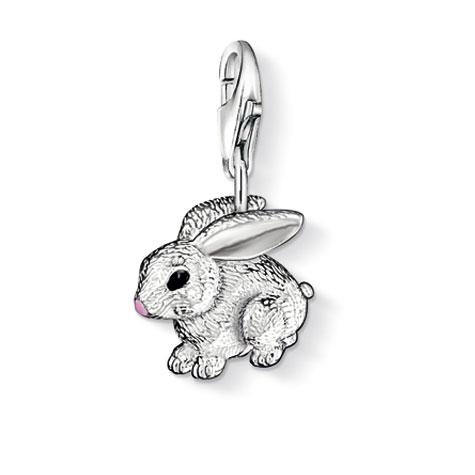 Thomas Sabo Rabbit Charm, Sterling Silver: Precious