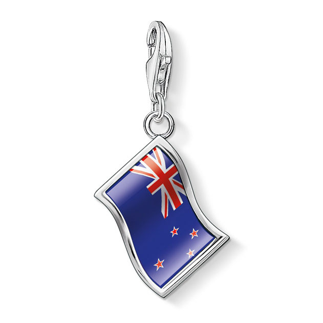 sabo new zealand flag charm sterling silver