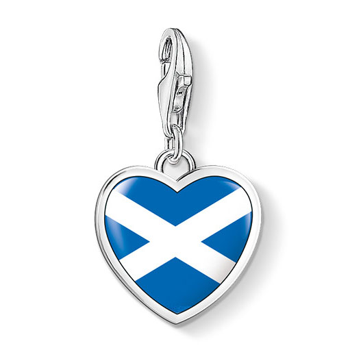 Thomas Sabo Scottish Heart Flag Charm Sterling Silver