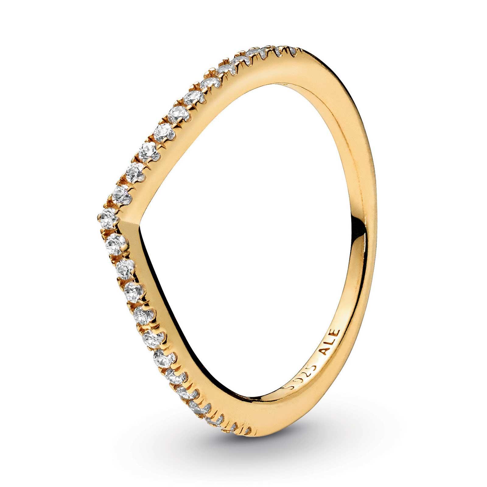Pandora Sparkling Wishbone Ring, Pandora Shine™