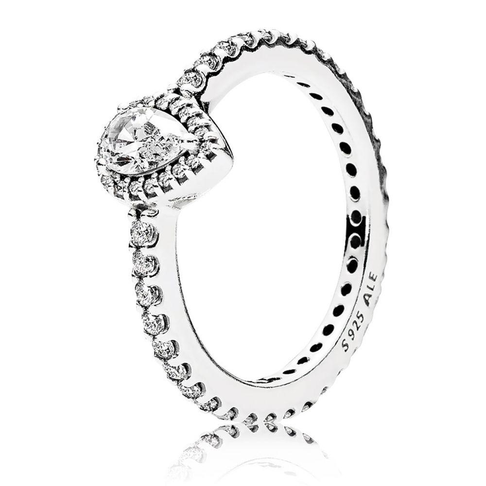 053be1487 PANDORA Radiant Teardrop Ring, Clear CZ: Precious Accents, Ltd.