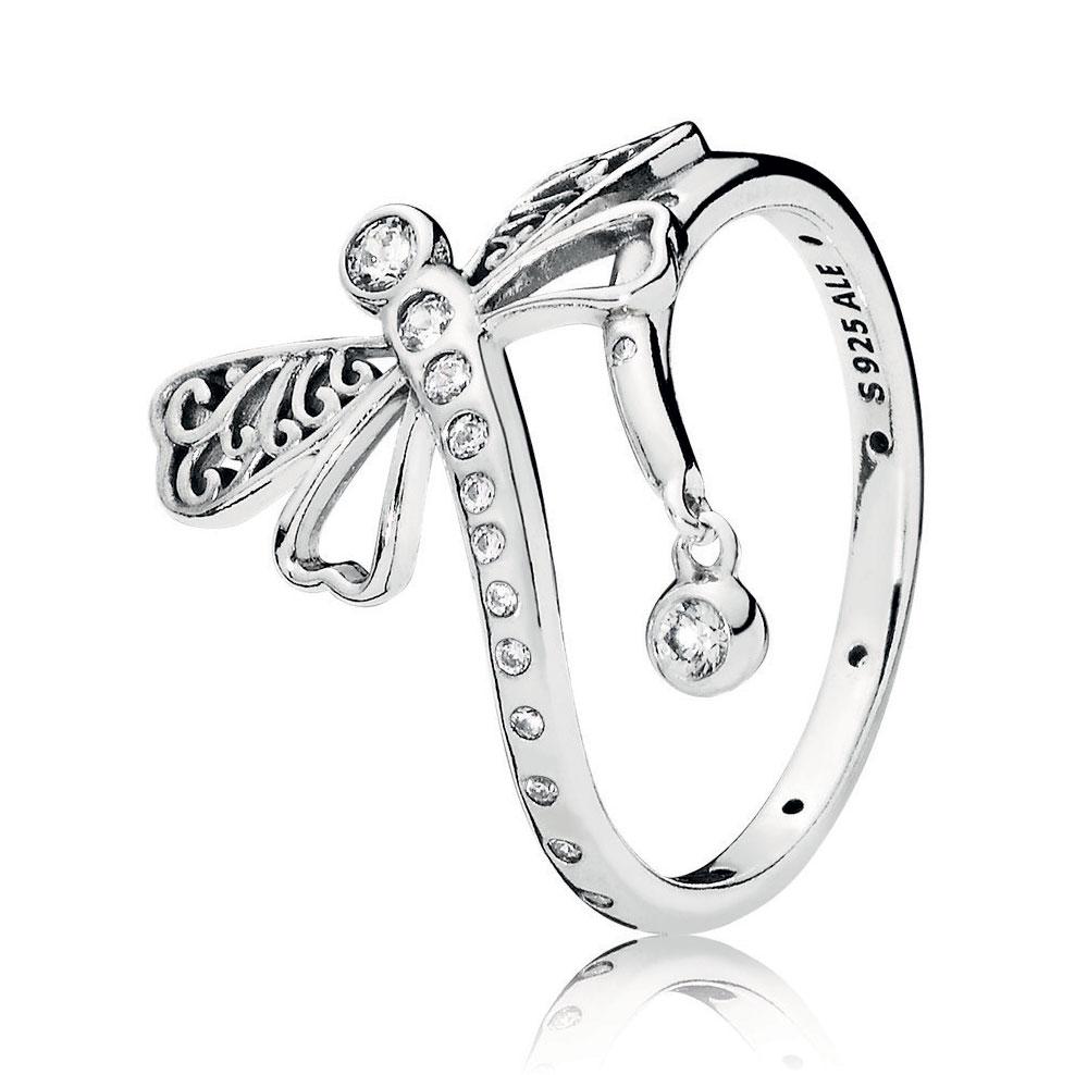 ea4d632b2 PANDORA Dreamy Dragonfly Ring, Clear CZ: Precious Accents, Ltd.