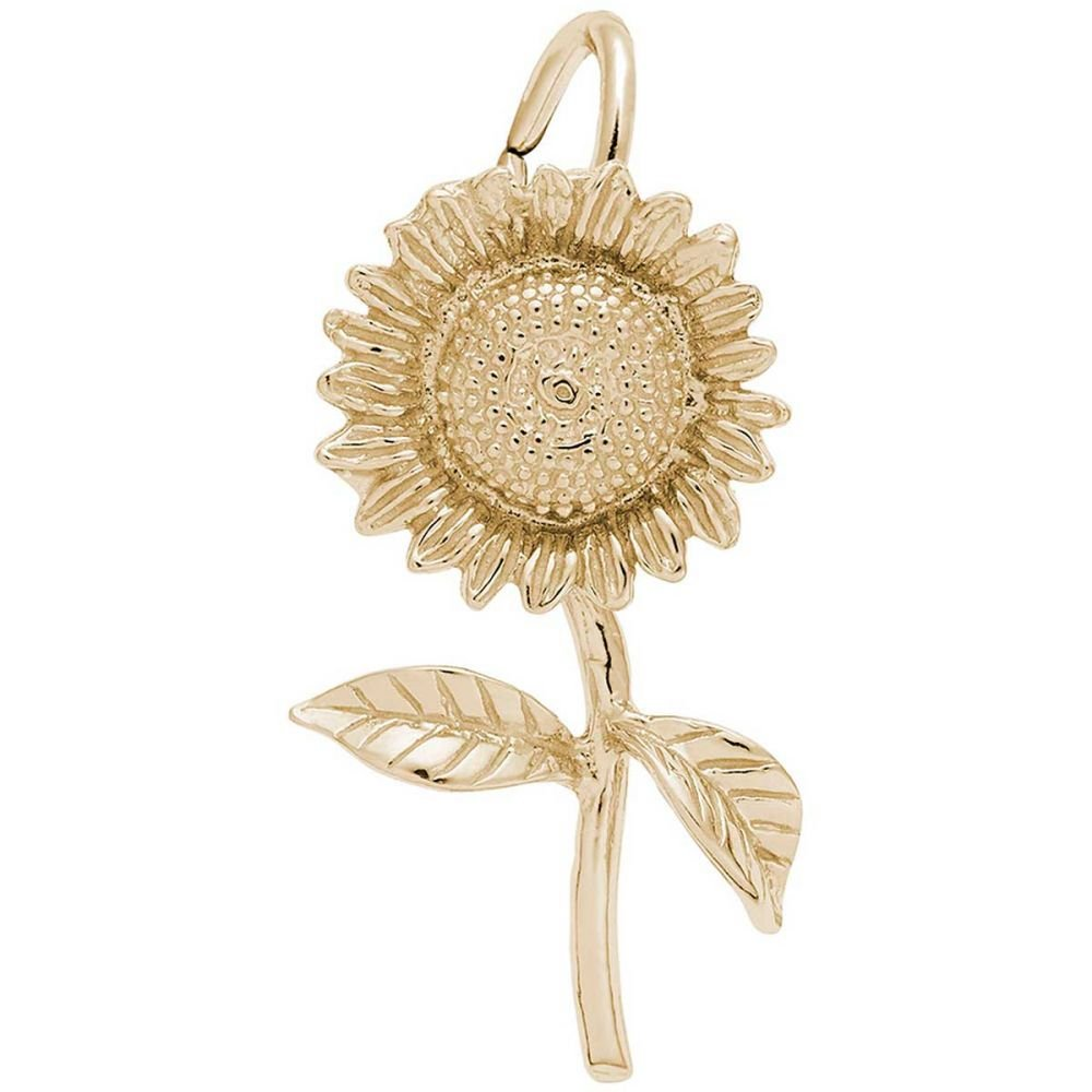 Sterling Silver 3D Garden Fairy Dangle Charm Bead For Bead Charm Bracelet On Sunflower