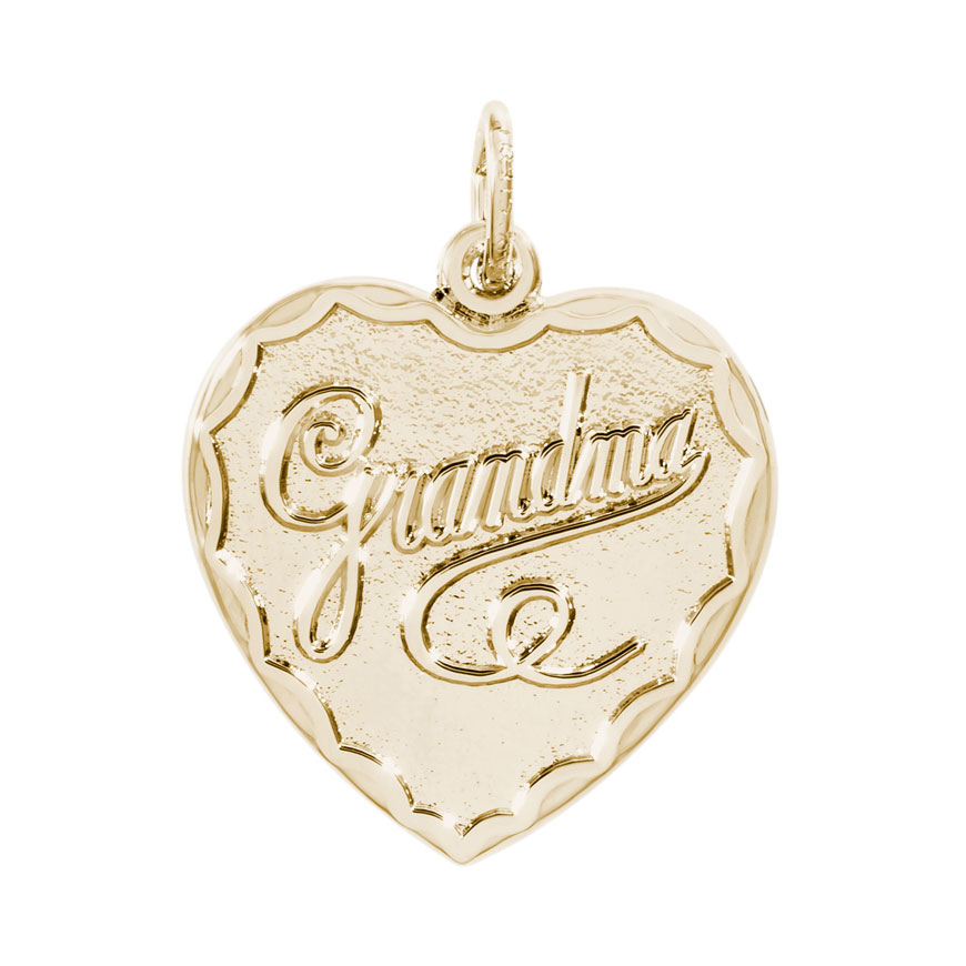 Rembrandt Grandma Charm Gold Plated Silver Precious Accents