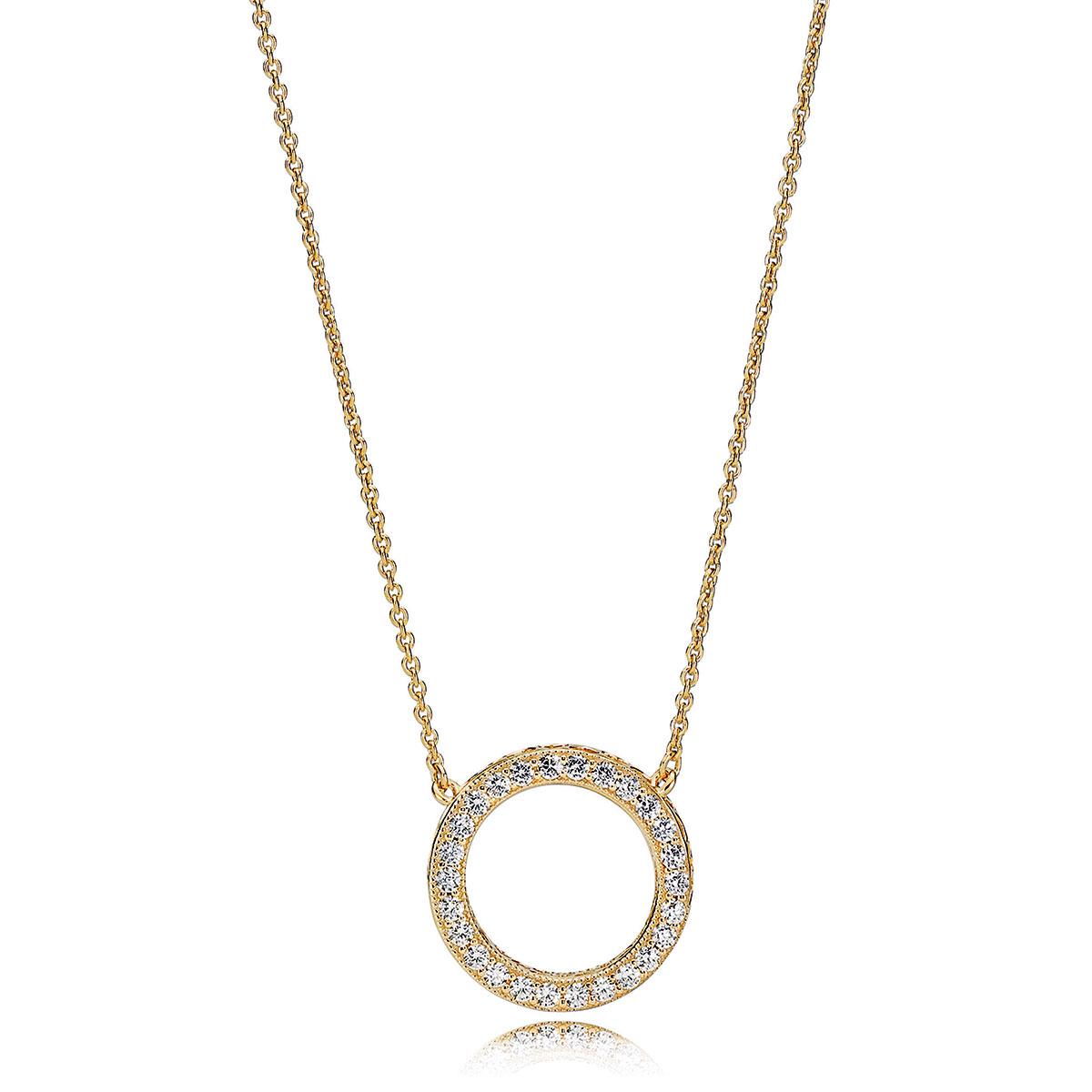 Hearts of Pandora Necklace, Pandora Shine™ & Clear CZ