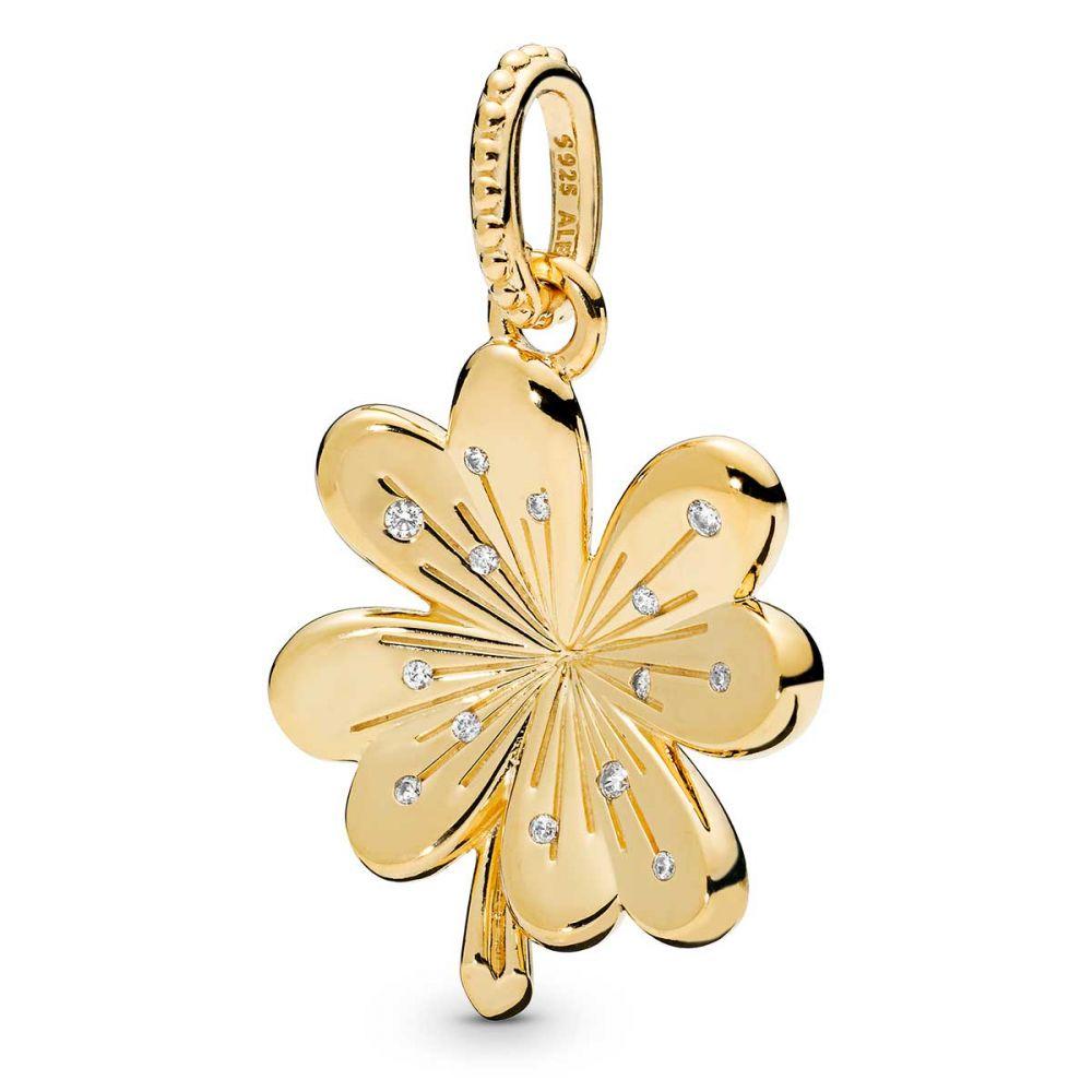 Pandora Lucky Four-Leaf Clover Pendant, Pandora Shine™