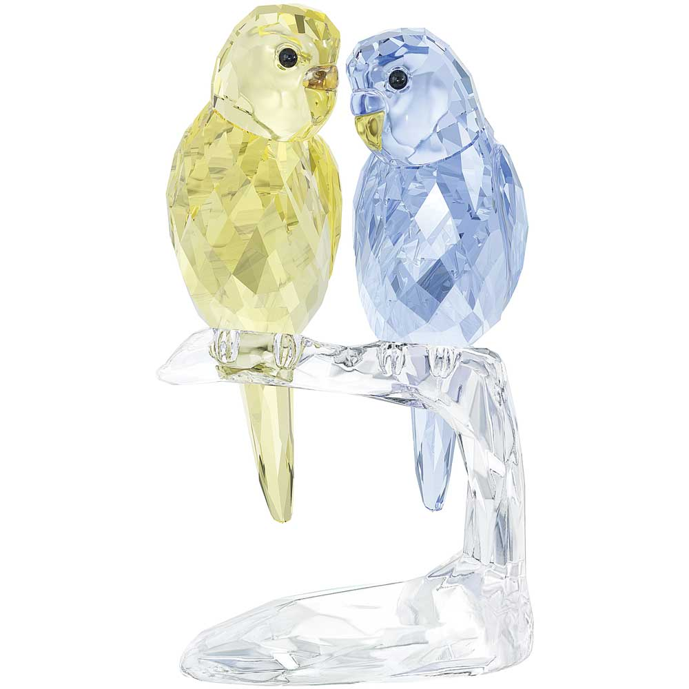 Swarovski Budgies Figurine Precious Accents Ltd