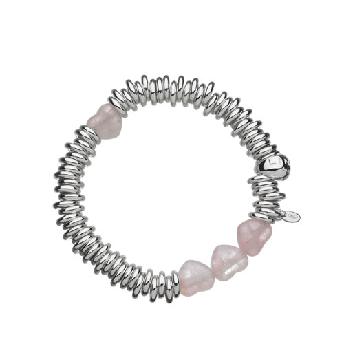 Links Of London Rose Quartz Candy Hearts Sweetie Bracelet