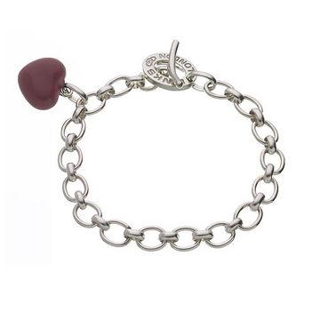 Links Of London Red Heart Charm Bracelet Precious Accents Ltd