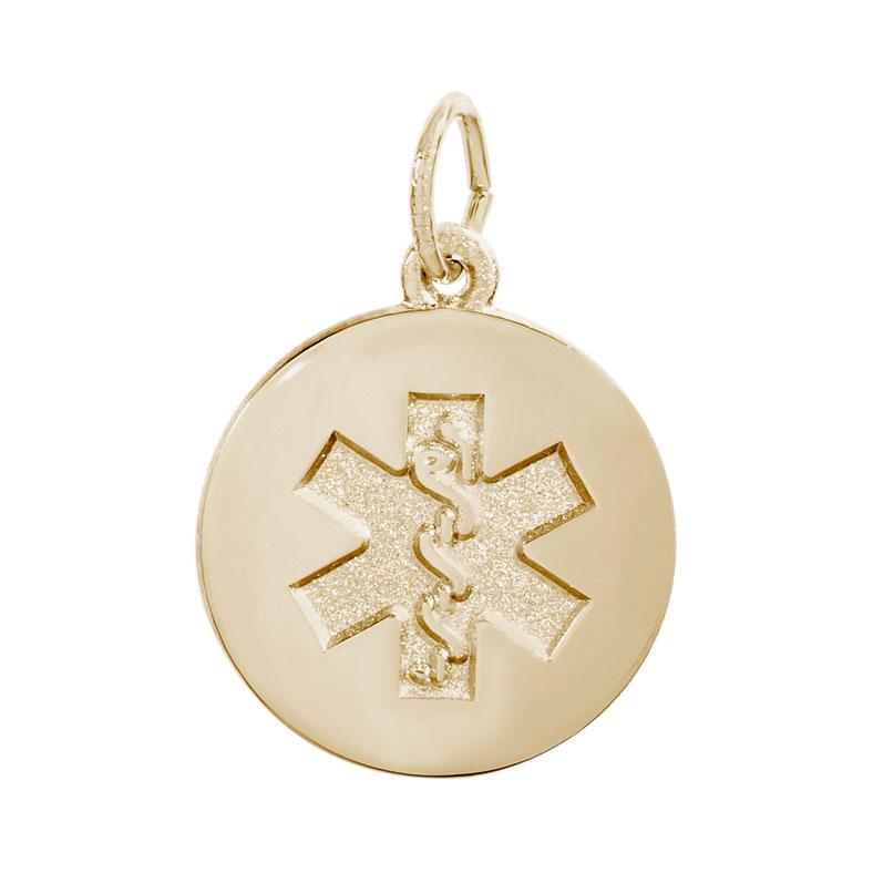 Rembrandt Medical Symbol Charm, 14K Yellow Gold: Precious ...