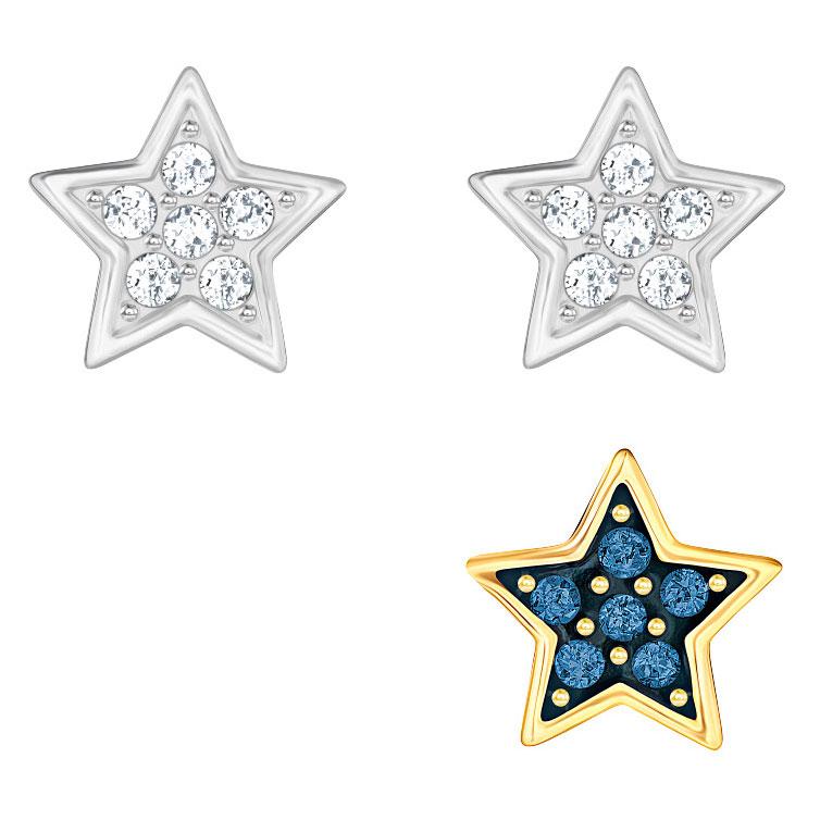 Swarovski Crystal Wishes Star Pierced Earring Set Blue