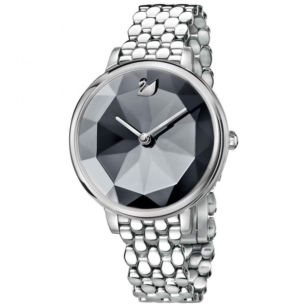 Swarovski Crystal Lake Watch, Metal bracelet, Dark Gray, Silver tone