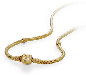 Pandora 14k gold necklace with barrel clasp precious accents ltd pandora 14k gold necklace with barrel clasp hover to zoom aloadofball Gallery
