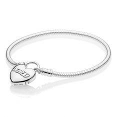 c8b621957 PANDORA You Are Loved Heart Padlock Bracelet