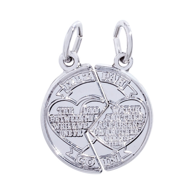 Rembrandt mizpah charm sterling silver precious accents ltd hover to zoom aloadofball Choice Image