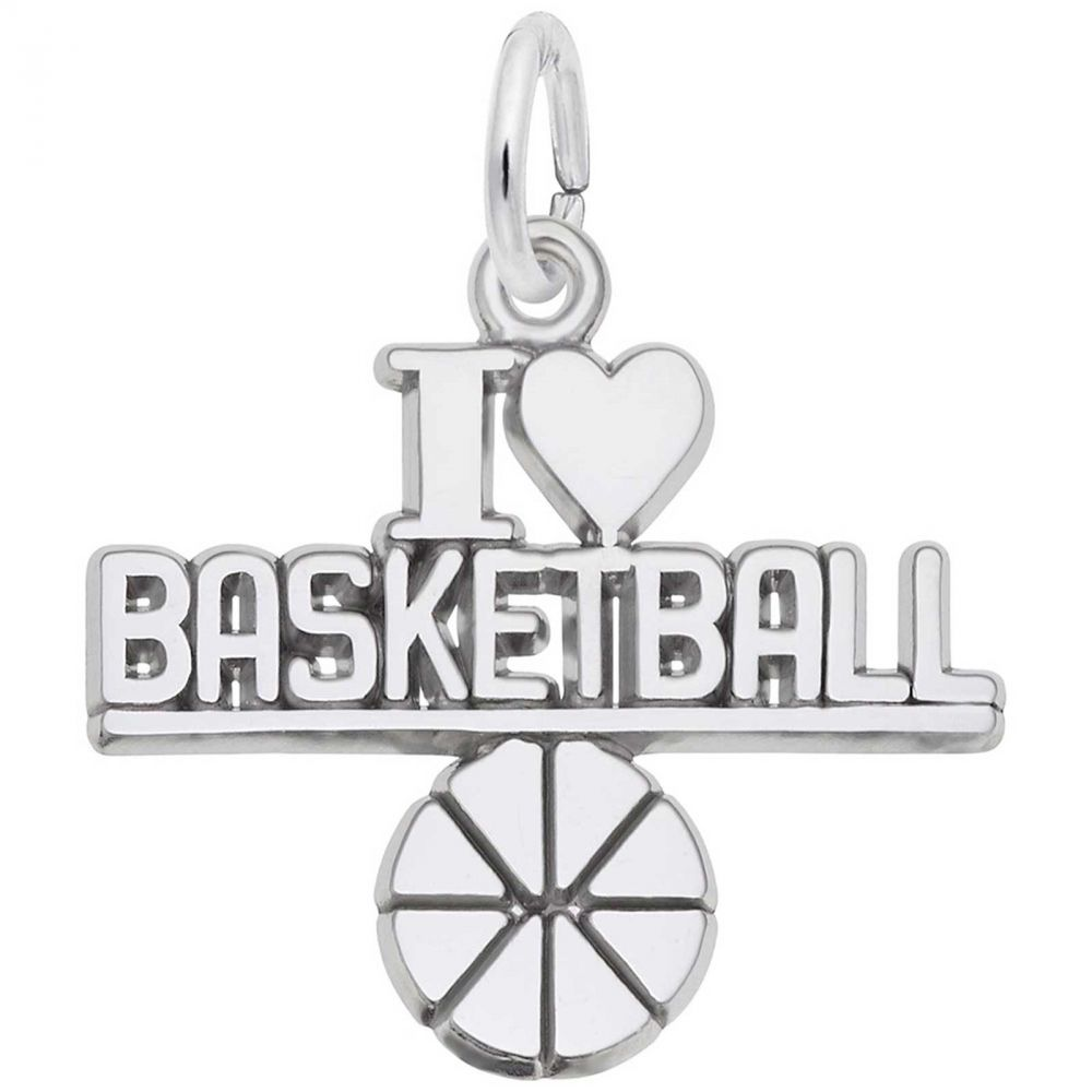 FOR BASKETBALL LOVERS I LOVE BASKETBALL silver earrings by Sandy of Scottsdale