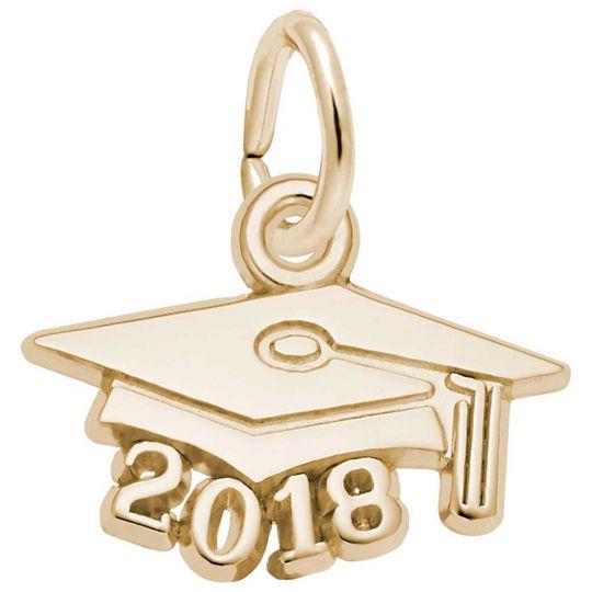 87e19ead2 Rembrandt Graduation Cap 2018 Charm, Gold Plated Silver: Precious Accents,  Ltd.