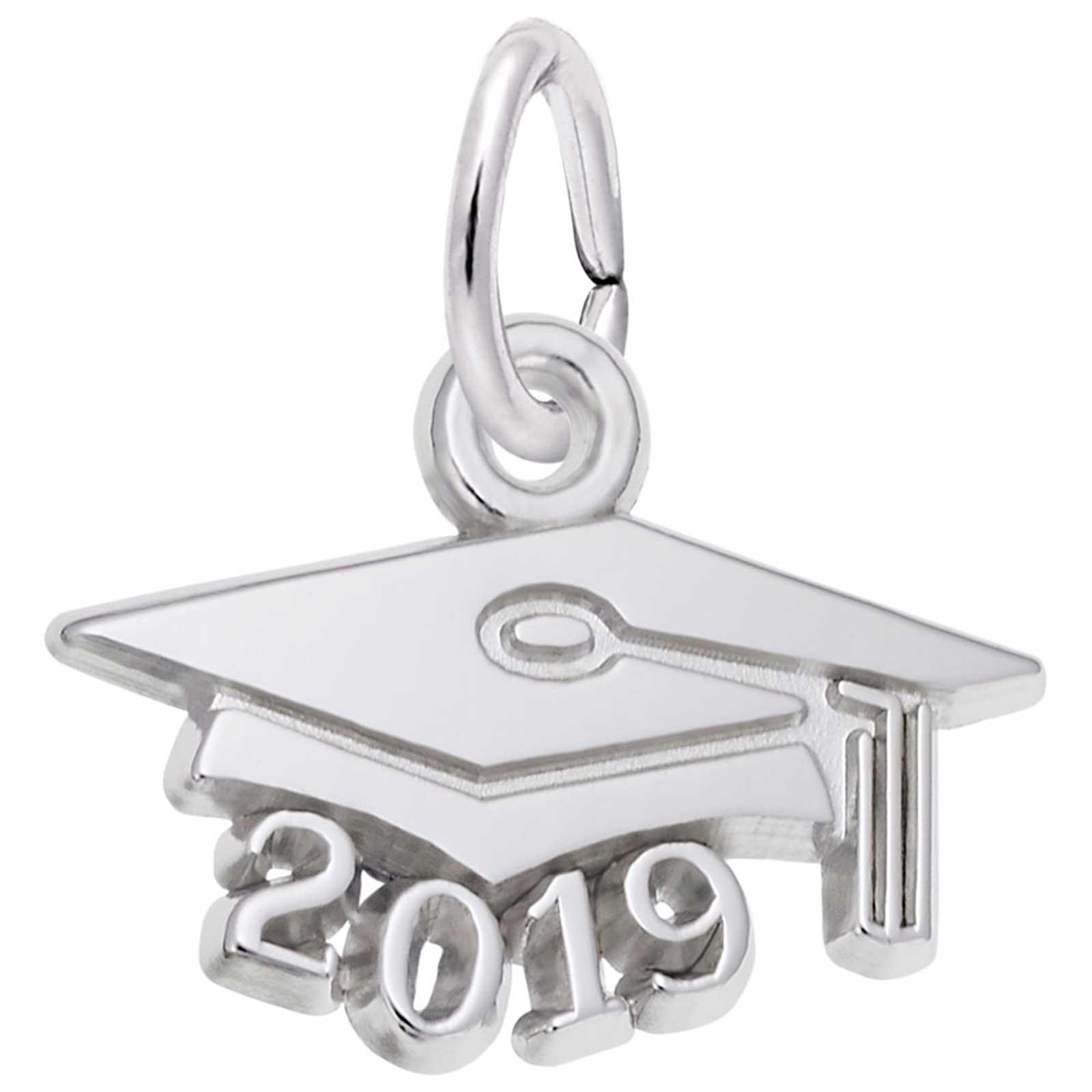 Rembrandt Graduation Cap 2019 Charm Sterling Silver