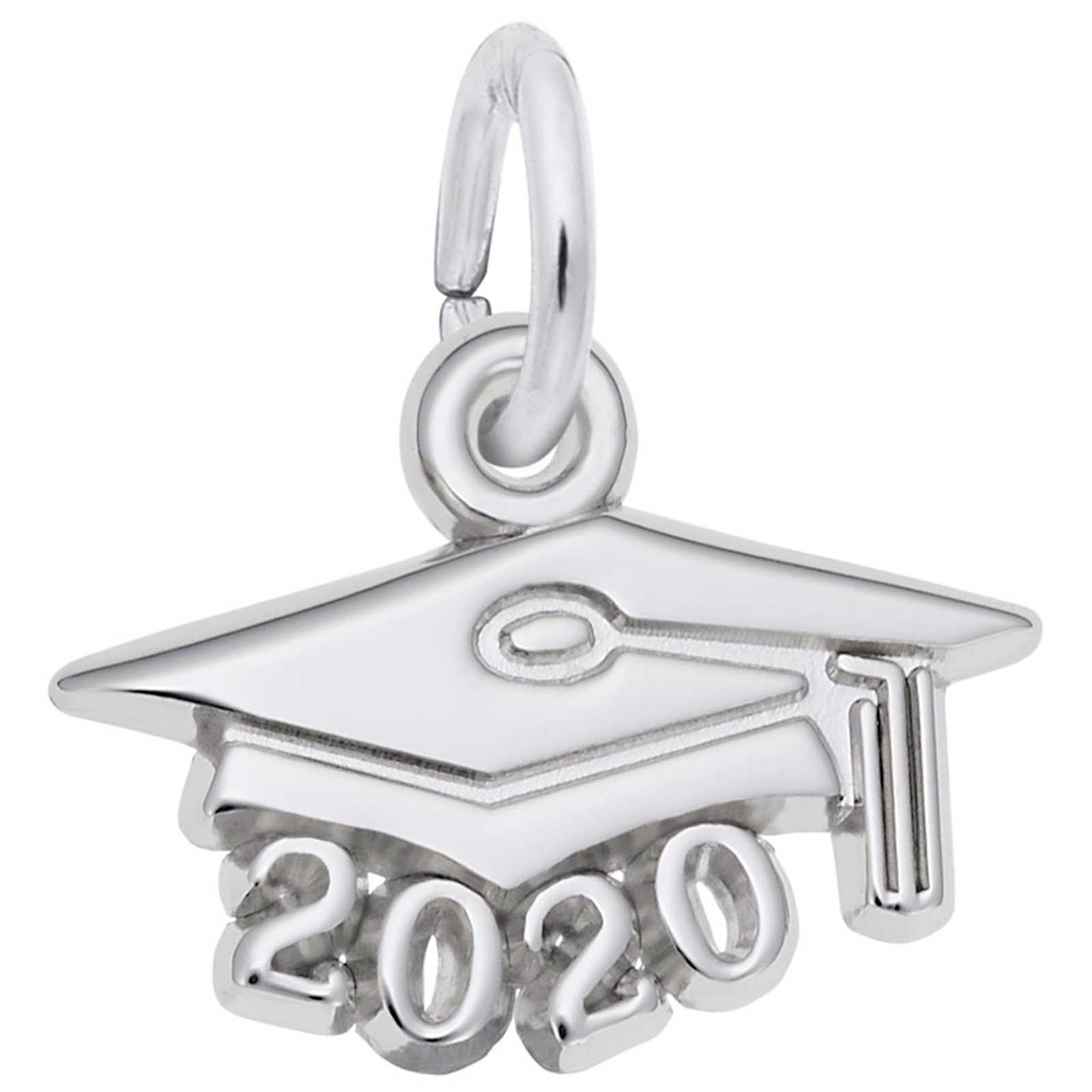 Rembrandt Graduation Cap 2020 Charm, Sterling Silver