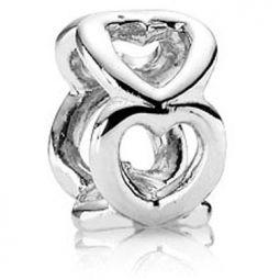 Pandora Silver Open Heart Spacer