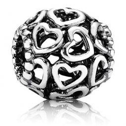 PANDORA Silver Open Your Heart Charm