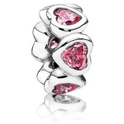 Pandora Space in My Heart Pink CZ Spacer