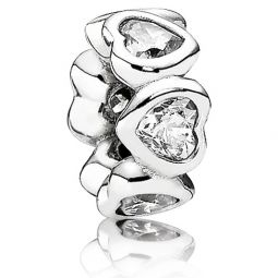 Pandora Space in My Heart Clear CZ Spacer