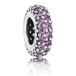 Pandora Inspiration Within Spacer with Fancy Purple CZ