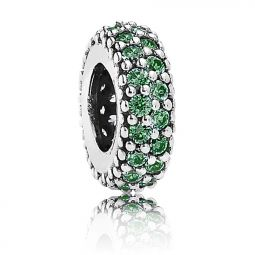 Pandora Inspiration Within Spacer with Green CZ