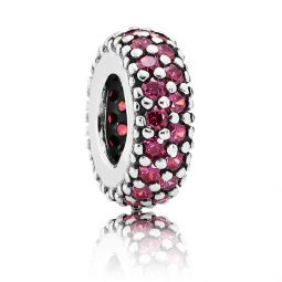 PANDORA Inspiration Within Spacer with Red CZ