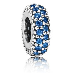 Pandora Inspiration Within Spacer with Midnight Blue Crystal