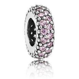 Pandora Inspiration Within Spacer with Pink CZ