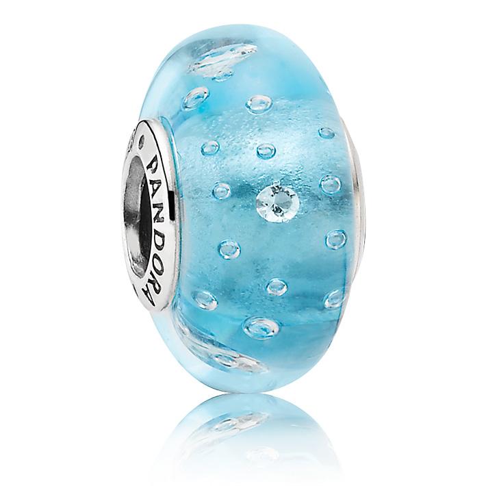 pandora blue effervescence murano glass charm precious. Black Bedroom Furniture Sets. Home Design Ideas