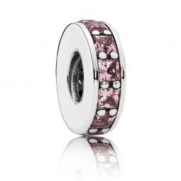 PANDORA Eternity Spacer, Pink Crystal