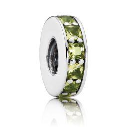 PANDORA Eternity Spacer, Green Crystal