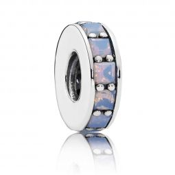 PANDORA Eternity Spacer, Opalescent White Crystal