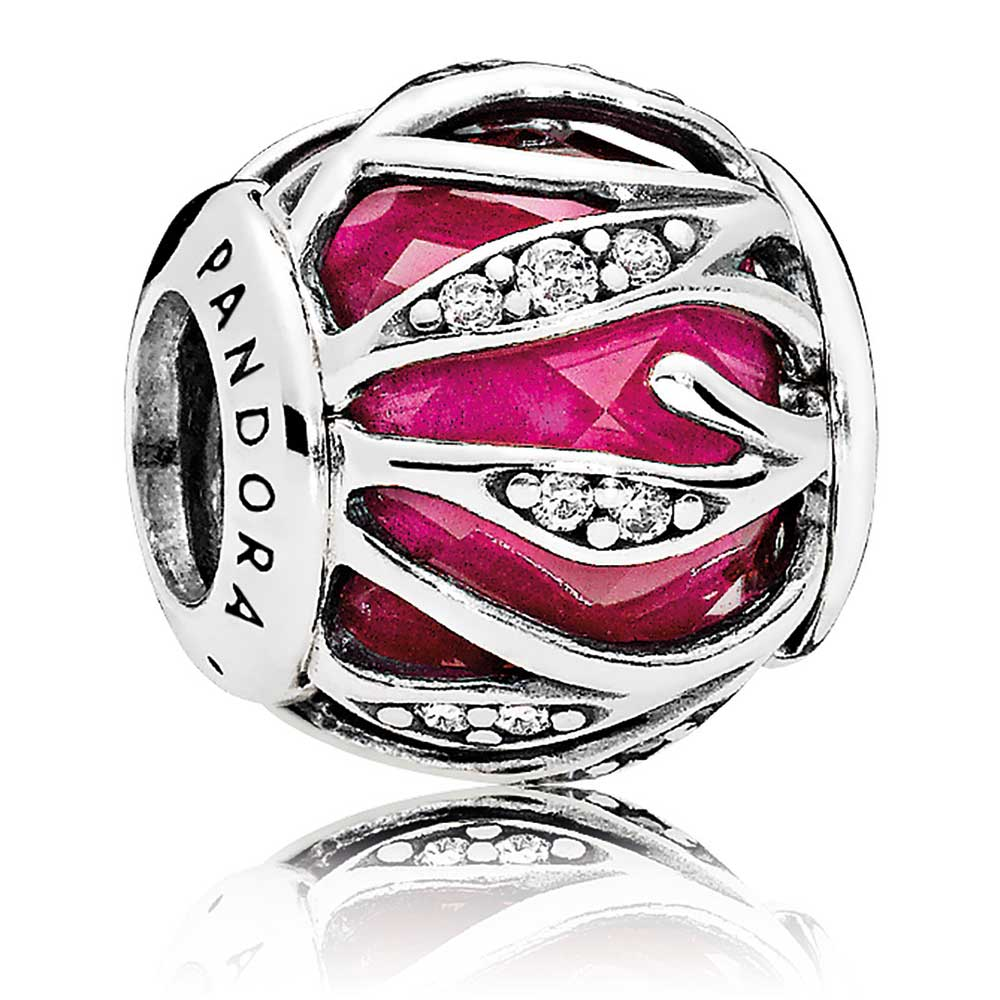 9b92716c7 ... Silver Charms/; PANDORA Nature's Radiance Charm, Synthetic Ruby & Clear  CZ. Tap to expand