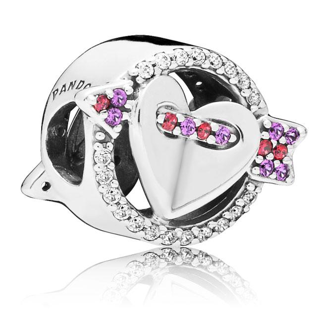 7e4095488 PANDORA Sparkling Arrow & Heart Charm, Red & Clear CZ, Royal Purple ...