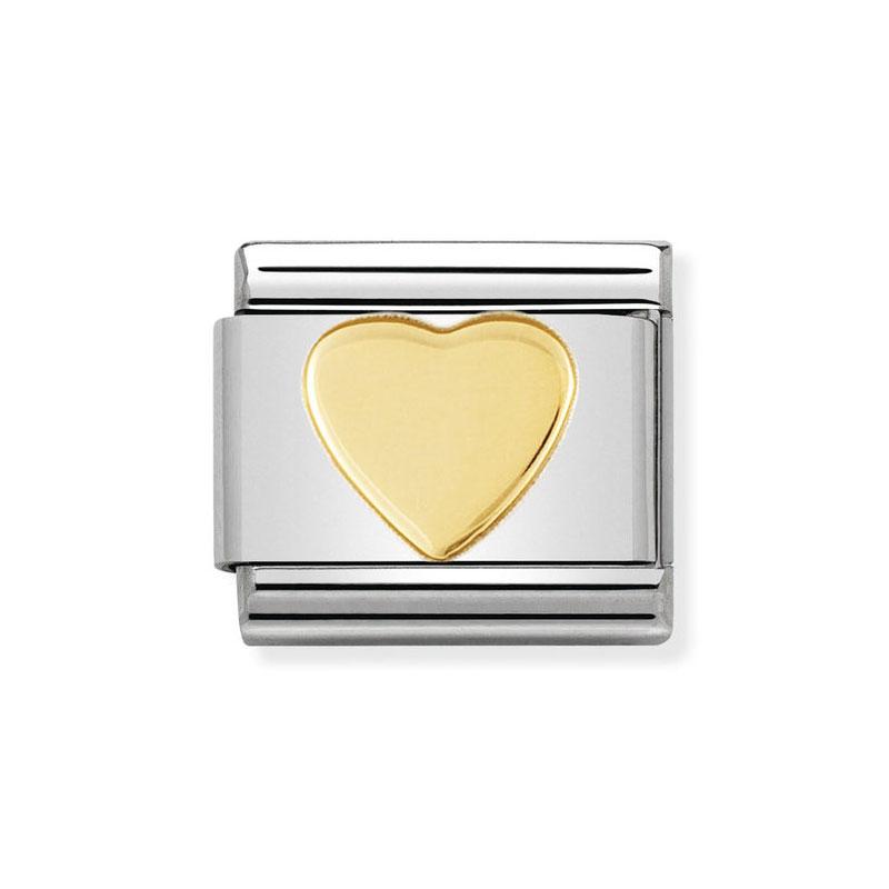 9a9b1db2277c Nomination Heart Classic Gold Italian Charm  Precious Accents