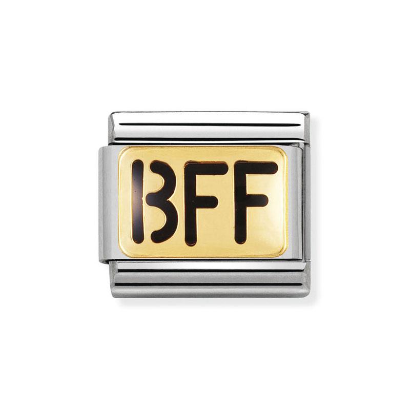 62b2d8a76060 Nomination BFF (writing) Black Classic Enamel Italian Charm ...