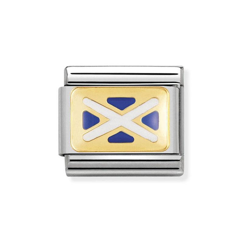 Nomination Scotland Flag Mix Classic Enamel Italian Charm