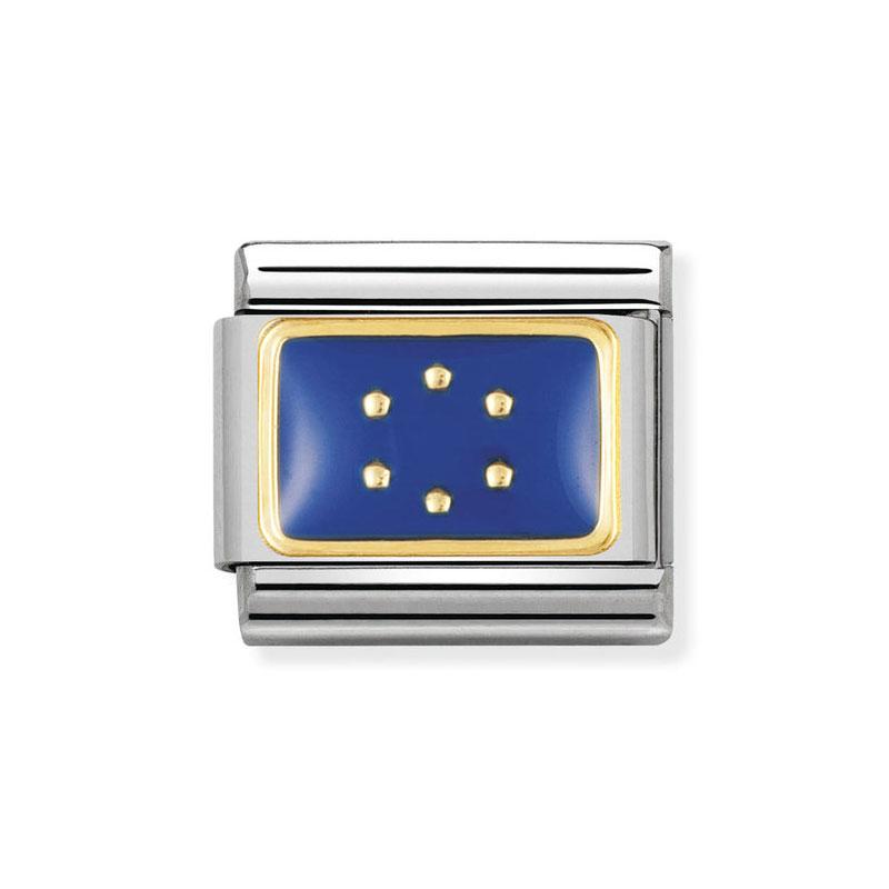 654dc00bd5fa Nomination European Union Flag Blue Classic Enamel Italian Charm ...