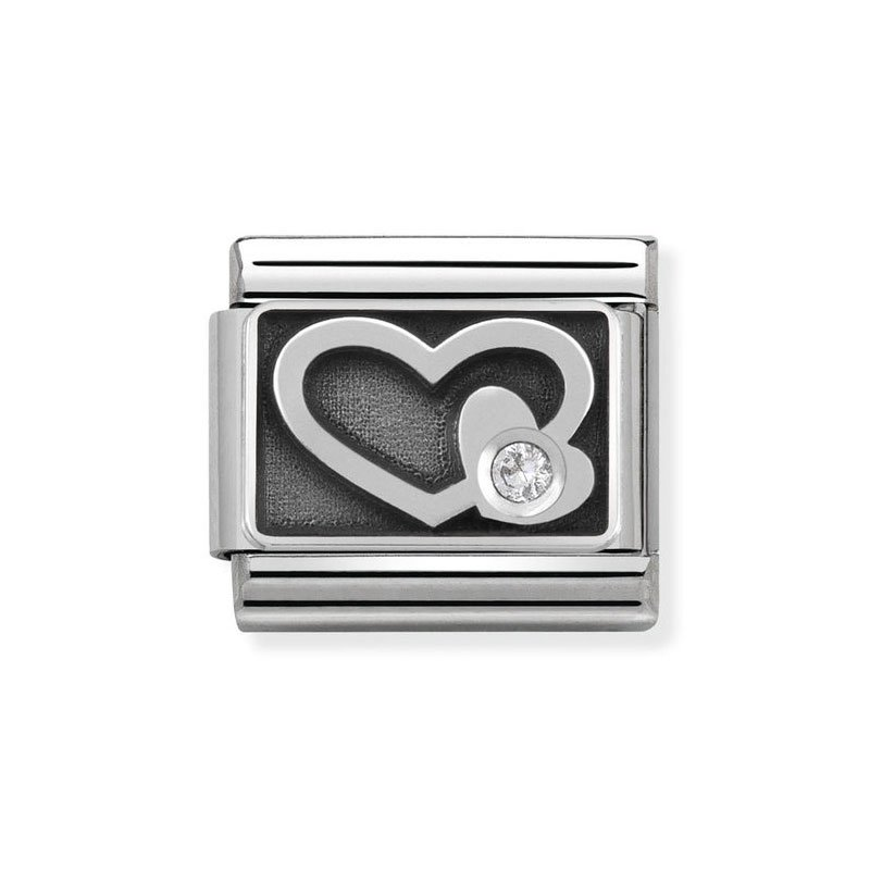 43a01767ecd8 Nomination Classic Engraved White Heart Italian Charm  Precious ...