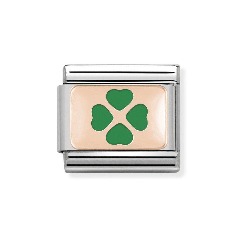 Nomination Classic Green Four Leaf Clover Italian Charm