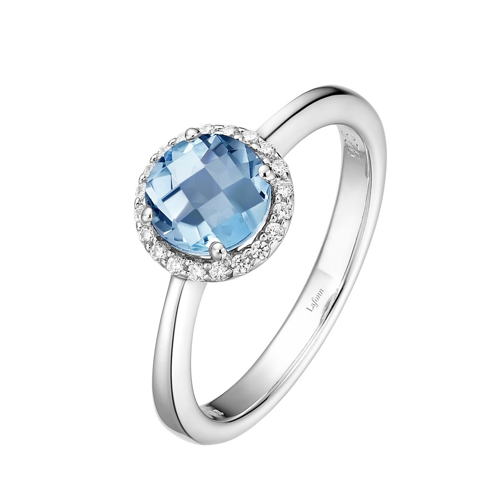 Lafonn March Birthstone Platinum Plated Simulated