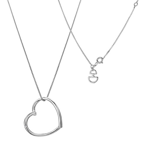 Hot Diamonds Just Add Love Starry Heart Silver Pendant DP132