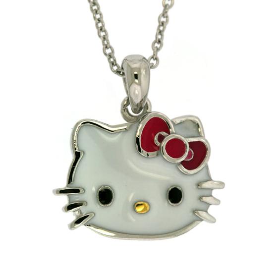 7eea3d86c Hello Kitty Sterling Silver Pink Enamel Pendant: Precious Accents, Ltd.